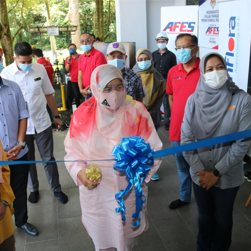 AFES was honoured with an official working visit by Y.B. Datuk Hajah Zuraida binti Kamaruddin to Incinerator Plant in Pulau Pangkor